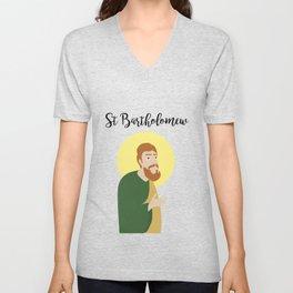 Saint BartholomewThe Apostle Unisex V-Neck