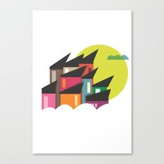 Houses of Colors Canvas Print