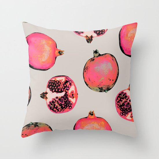 Pomegranate Pattern Throw Pillow