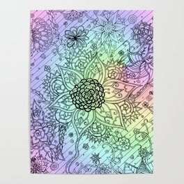 Psychedelic Swirls Poster