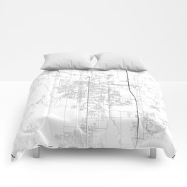 Minimal City Maps - Map Of Fort Collins, Colorado, United States Comforters
