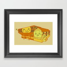 Old school and new school Framed Art Print