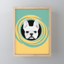 Frenchie Retro Disco Dog #3 #decor #art #society6 Framed Mini Art Print