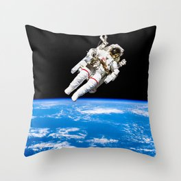 Astronaut Bruce McCandless Floating Free Throw Pillow