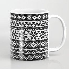 Fair Isle Black Coffee Mug
