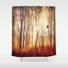 the art of falling apart Shower Curtain