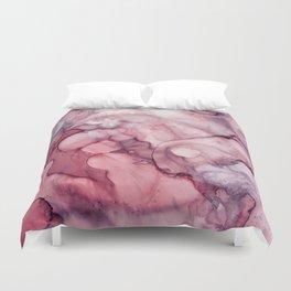 Liquid Mauve Abstract Duvet Cover