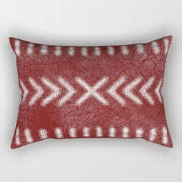 Minimalist Tribal Pattern on oxblood red Rectangular Pillow