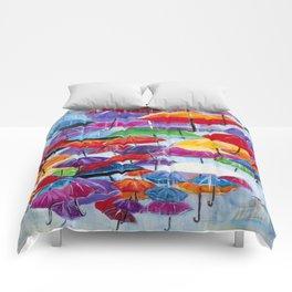 Diane L - Sous la pluie Comforters