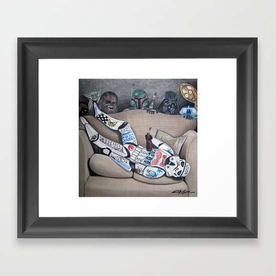 Dorm Trooper Framed Art Print