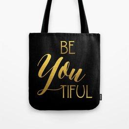 BeYoutiful Gold Foil Tote Bag