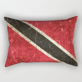 Vintage Aged and Scratched Trinidadian Flag Rectangular Pillow