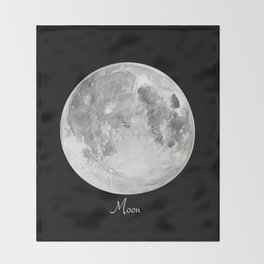 Moon #2 Throw Blanket
