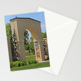 Lourdes University-  Lourdes Entrance in the Spring III Stationery Cards