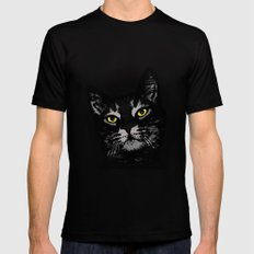Cat Eyes Mens Fitted Tee Black SMALL