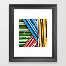 Striped Planes Framed Art Print
