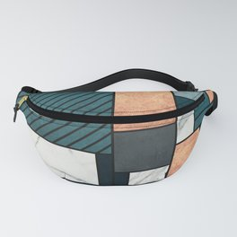 Random Pattern - Copper, Marble, and Blue Concrete Fanny Pack