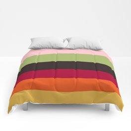 Colorful Color-blocking Stripes Colour Block Stripes Comforters