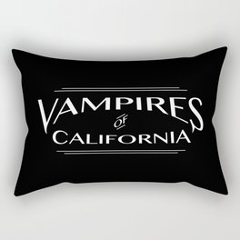 Vampires Of California Black and White Rectangular Pillow