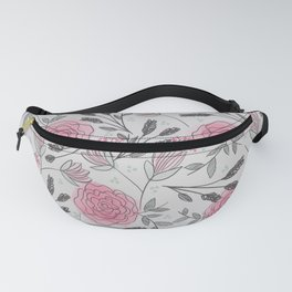 Soft and Sketchy Peonies Fanny Pack