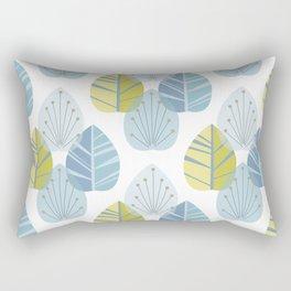 Mid-Century Modern Leaves Rectangular Pillow