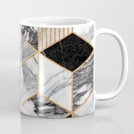 Marble Cubes 2 - Black and White Coffee Mug