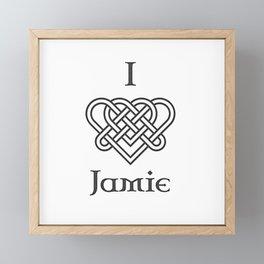 I LOVE JAMIE Framed Mini Art Print