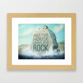 Upon the Rock Framed Art Print