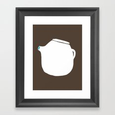 Grey Pot Framed Art Print