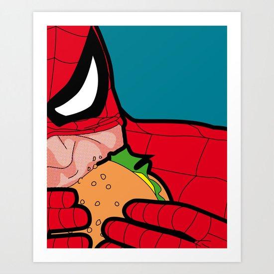 The secret life of heroes - Spiderfood Art Print