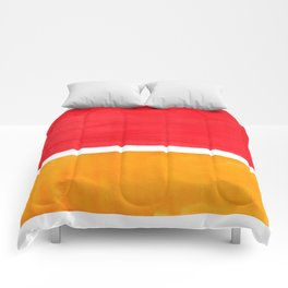 Colorful Bright Minimalist Rothko Color Field Midcentury Bright Red Yellow Squares Vintage Pop Art Comforters
