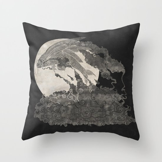 Ocean Moon  Throw Pillow