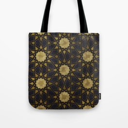Islamic decorative pattern with golden artistic texture Tote Bag