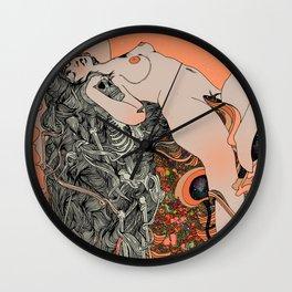 Blushing Cheeks & Sweet Fruits Wall Clock