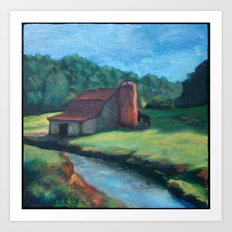 Sugar Grove Barn Art Print