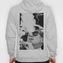 Cigar Smoker Cigar Lover JFK Gifts Black And White Photo Hoody