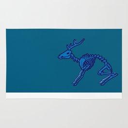 Deer Skeleton - Blue Rug
