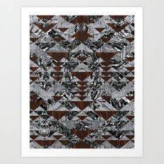 Wood Galaxy Art Print