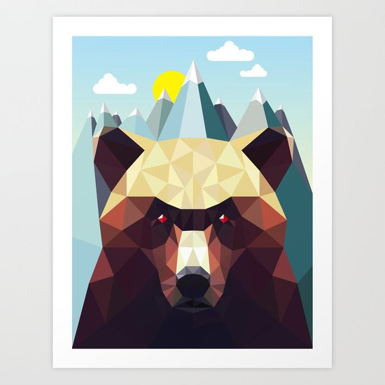 Bear Mountain  Art Print