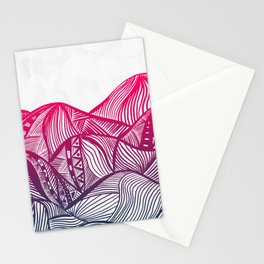 Lines in the mountains 05 Stationery Cards