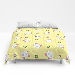 Glamour Cat Yellow Comforters