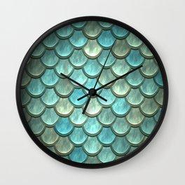 Serene Mermaid Scales Wall Clock