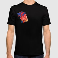 I give you my heart Black MEDIUM Mens Fitted Tee