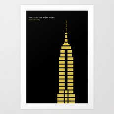 New York Skyline: Empire State Building Art Print