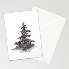 Lonely Pine Tree Stationery Cards