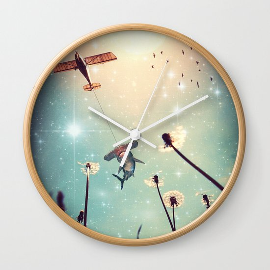 Flying Lessons Wall Clock