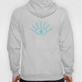 Aqua Evil Eye Pattern Hoody