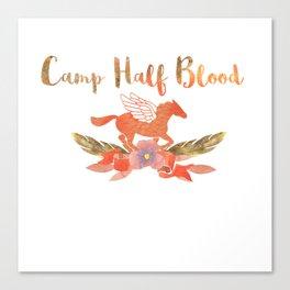camp half blood floral Canvas Print