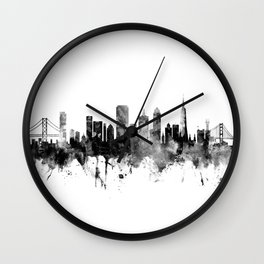 San Francisco City Skyline Wall Clock