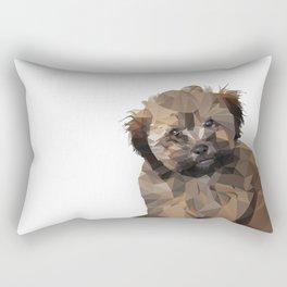 Cocoa, the puppy Rectangular Pillow